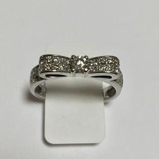 【送料無料】0.3ct ダイヤモンド リボン リング(リング(指輪))