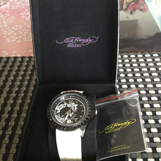 エドハーディー(Ed Hardy)のエド・ハーディ腕時計(Swarovskiクリスタル使用)(ラバーベルト)