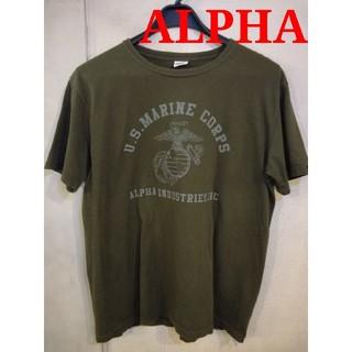 アルファインダストリーズ(ALPHA INDUSTRIES)の古着 L アルファ Tシャツ   アヴィレックスやバズリクソンズ等好きな方にも(Tシャツ/カットソー(半袖/袖なし))