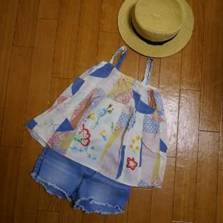 デニムダンガリー(DENIM DUNGAREE)のデニム&ダンガリーの刺繍チュニック(Tシャツ/カットソー)