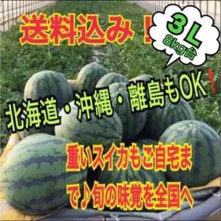 この美味しさ知らないのは勿体無い!絶品厳選減農薬ブランド西瓜3L1玉(フルーツ)