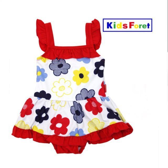 KIDS FORET(キッズフォーレ)のリー様専用ページ ンピース水着カラフルお花柄 B35864 キッズ/ベビー/マタニティのキッズ服 女の子用(90cm~)(水着)の商品写真