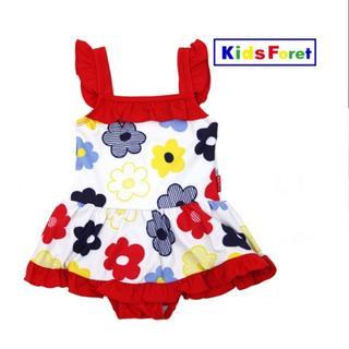 キッズフォーレ(KIDS FORET)のリー様専用ページ ンピース水着カラフルお花柄 B35864(水着)