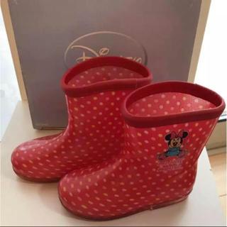 ディズニー(Disney)のDisney ミニーちゃん レインブーツ14cm(長靴/レインシューズ)
