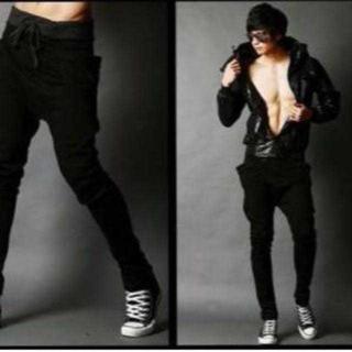 超人気モデル★のジョガーパンツ ブラック 黒 Mサイズ メンズ スウェット(その他)