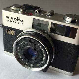 コニカミノルタ(KONICA MINOLTA)のコンパクト フィルム カメラ MINOLTA HI MATIC F(フィルムカメラ)