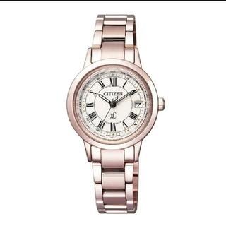 シチズン(CITIZEN)の新品未開封☆シチズン クロスシー エコ・ドライブ電波時計 サクラピンク(腕時計)