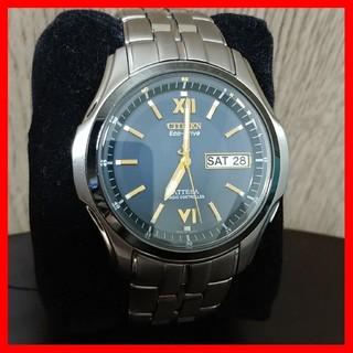 シチズン(CITIZEN)のCITIZEN ATTESA エコドライブ ネイビー/ゴールド 電波ソーラー(腕時計(アナログ))