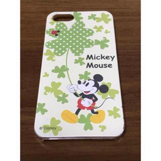 ディズニー(Disney)のiPhone5/5s ミッキークローバーケース(iPhoneケース)