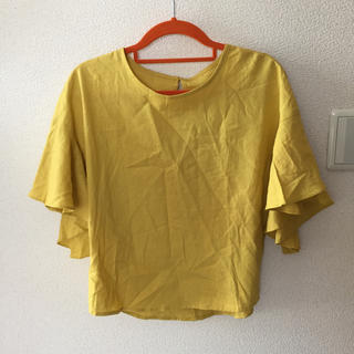 ジーユー(GU)のGU フレアスリーブブラウス(シャツ/ブラウス(半袖/袖なし))