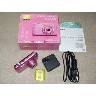 ニコン(Nikon)の COOLPIX S3600 20.0MEGA 8倍zoom中古ジャンク(コンパクトデジタルカメラ)