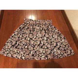 ジーユー(GU)のGU 花柄スカート(ミニスカート)