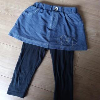 ディズニー(Disney)のミニーちゃんのレギンス付きスカート95サイズ(パンツ/スパッツ)
