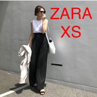 ZARA - ZARA  ザラ ベルト付き リネンパンツ