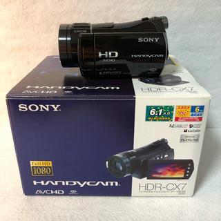 ソニー(SONY)の【付属品完備】SONY フルハイビジョンビデオカメラ HDR-CX7(ビデオカメラ)
