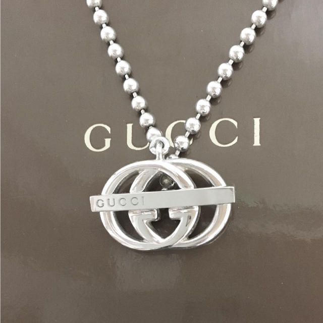 d46b87c41a Gucci(グッチ)の正規品 グッチ ネックレス シルバー 925 GG インターロッキング チェーン レディース
