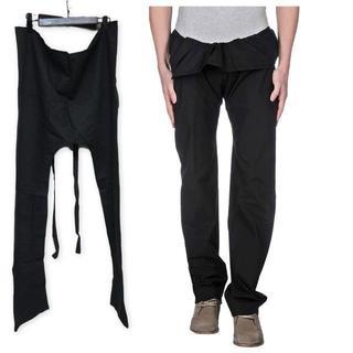 新品タグ付 ニコロ チェスキ ベリーニ 変形パンツ デカパン 46 ブラック(その他)