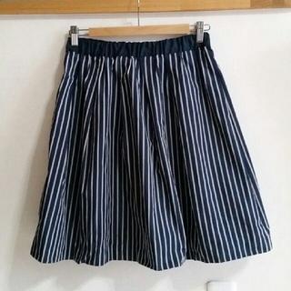 ラトータリテ(La TOTALITE)のラトータリテ ストライプ ネイビー スカート(ひざ丈スカート)