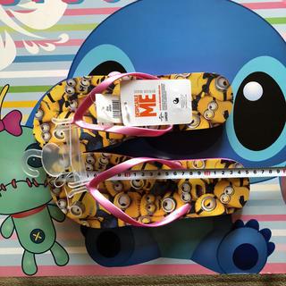 ミニオン(ミニオン)のUSJ ユニバーサル ミニオンタグ付き・新品・未使用品 Mサイズ ビーチサンダル(ビーチサンダル)