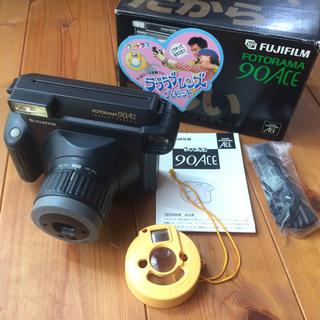 フジフイルム(富士フイルム)の美品◆FUJIFILM フォトラマ90ACE レトロインスタントカメラポラロイド(フィルムカメラ)
