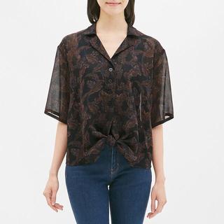 ジーユー(GU)のプリントノットシャツ(シャツ/ブラウス(半袖/袖なし))