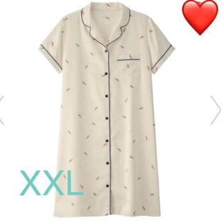 ジーユー(GU)のGU サテンワンピースパジャマ XXL 売り切れサイズです♡(パジャマ)