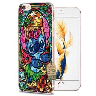 ディズニー(Disney)の『新品未使用』スティッチ ステンドグラス柄 iphoneケース(6/6s)(iPhoneケース)