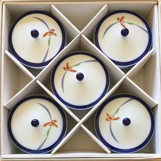 コウランシャ(香蘭社)の香蘭社 湯呑み 蓋付 オーキッドレース 有田焼(食器)