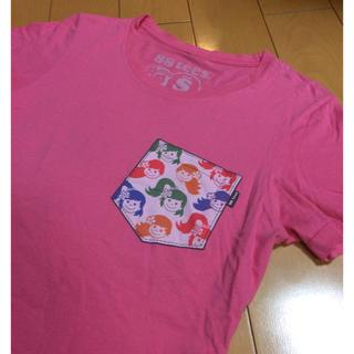 エイティーエイティーズ(88TEES)の88teesポケT風ピンクコットンT(Tシャツ(半袖/袖なし))