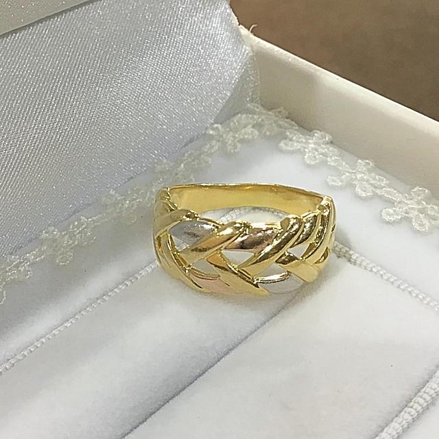 ふじはなちゃん様専用☆K18/PT スリーカラー リング レディースのアクセサリー(リング(指輪))の商品写真