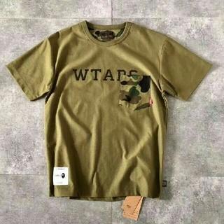 ダブルタップス(W)taps)のWTAPS X BAPE Tシャツ 迷彩 L(Tシャツ/カットソー(半袖/袖なし))