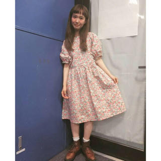 レトロガール(RETRO GIRL)のアナザーリブラ シロツメクサ ワンピース(ひざ丈ワンピース)