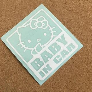 (送料無料) キティ  BABY IN CAR ステッカー(その他)