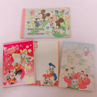 ディズニー(Disney)のディズニーキャラクター♡メモ帳 セット(ノート/メモ帳/ふせん)