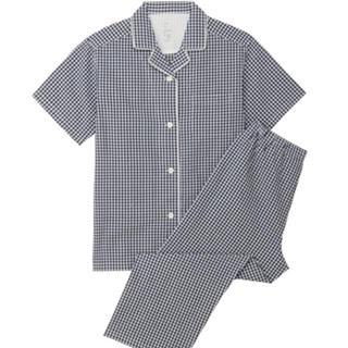 ムジルシリョウヒン(MUJI (無印良品))の脇に縫い目のないサッカー半袖パジャマ・婦人S(パジャマ)