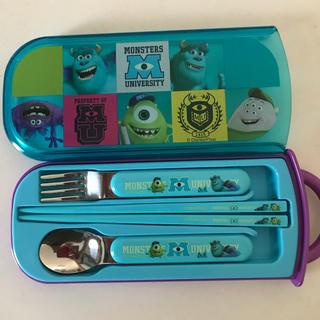 ディズニー(Disney)のモンスターズインク お箸・スプーン・フォークのセット(弁当用品)