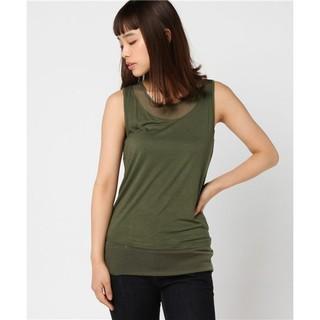 シスレー(Sisley)のSISLEY  ビスコースネット切り替えノースリーブTシャツ・カットソー(カットソー(半袖/袖なし))