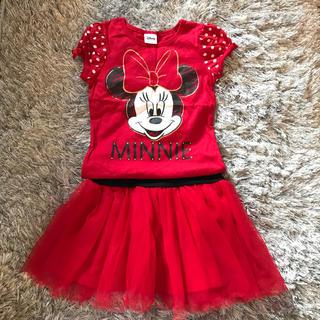 ディズニー(Disney)の美品 ディズニー ミニーマウス セットアップ (Tシャツ/カットソー)