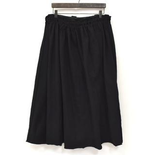 ワイズ(Y's)のY's ワイズ ヨウジヤマモト ギャザースカート ドッキング ワイドパンツ 黒3(クロップドパンツ)