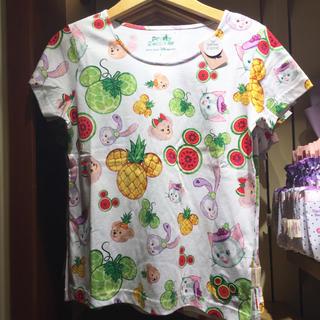 ディズニー(Disney)の香港♡ディズニー♡ダッフィーフレンズ♡サマー♡フルーツ♡Tシャツ♡Lサイズ(キャラクターグッズ)