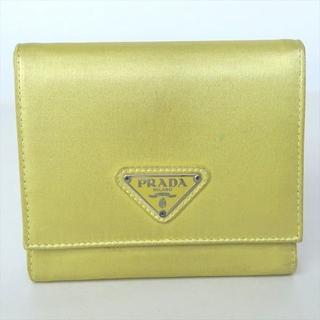 プラダ(PRADA)のプラダ 折り財布 三つ折り財布 ホック財布 イエロー レディース財布(財布)