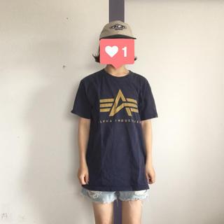 アルファインダストリーズ(ALPHA INDUSTRIES)のALPHA ロゴTEE(Tシャツ/カットソー(半袖/袖なし))