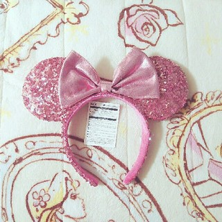 ディズニー(Disney)のディズニー スパンコール カチューシャ ピンク(カチューシャ)
