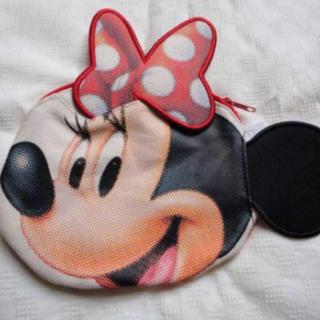 ディズニー(Disney)のディズニーリゾート ミニーフェイスポーチ 新品(ポーチ)