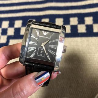 エンポリオアルマーニ(Emporio Armani)のARMANI レザー 腕時計(レザーベルト)