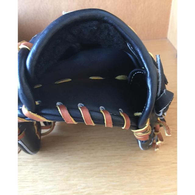 Zeems(ジームス)のZeems 軟式野球グローブ 黒 mizuno pro 袋付き スポーツ/アウトドアの野球(グローブ)の商品写真