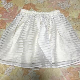 サンゴ(sango)のオーガンジーのスカート(ミニスカート)
