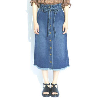 レトロガール(RETRO GIRL)のレトロガール デニムタイトスカート(ひざ丈スカート)