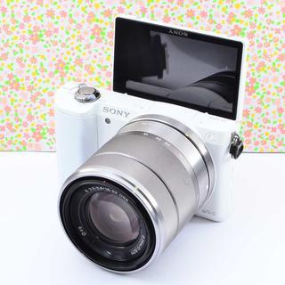 ✨Wifiでスマホに転送& 自撮り♬✨ソニー α5000 レンズセット(ミラーレス一眼)
