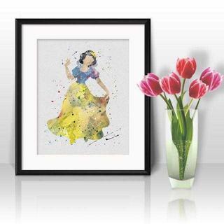 ディズニー(Disney)の日本未発売!白雪姫・アートポスター【額縁つき・送料無料!】(ポスター)